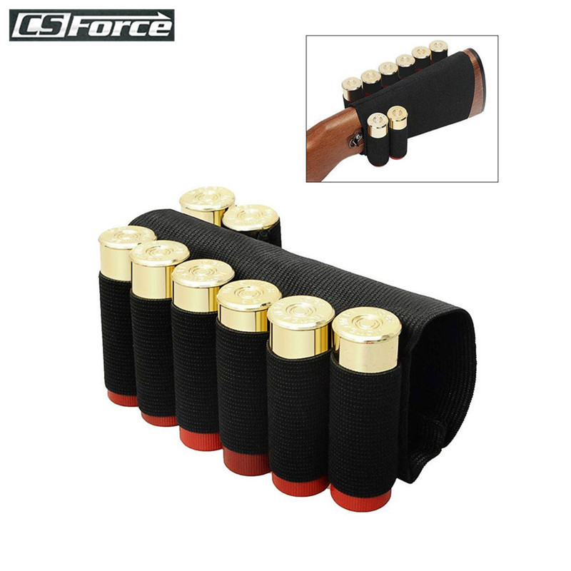 Tactical Shotgun Shell Holder Bandolier Buttstock 8 Round 12/20 Gauge Ammo Carrier Military Airsoft Rifle Hunting Accessories