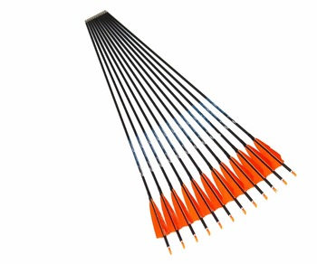 """12pcs Archery carbon arrow spine500/600 ID4.2mm with 2.5/3/4""""Turkey fletching feathers 80/100/120grain target point"""
