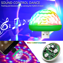 Car USB Atmosphere Light Decorative Lamp Interior Lights DJ RGB Mini Colorful Music Sound for Festival Party Karaoke