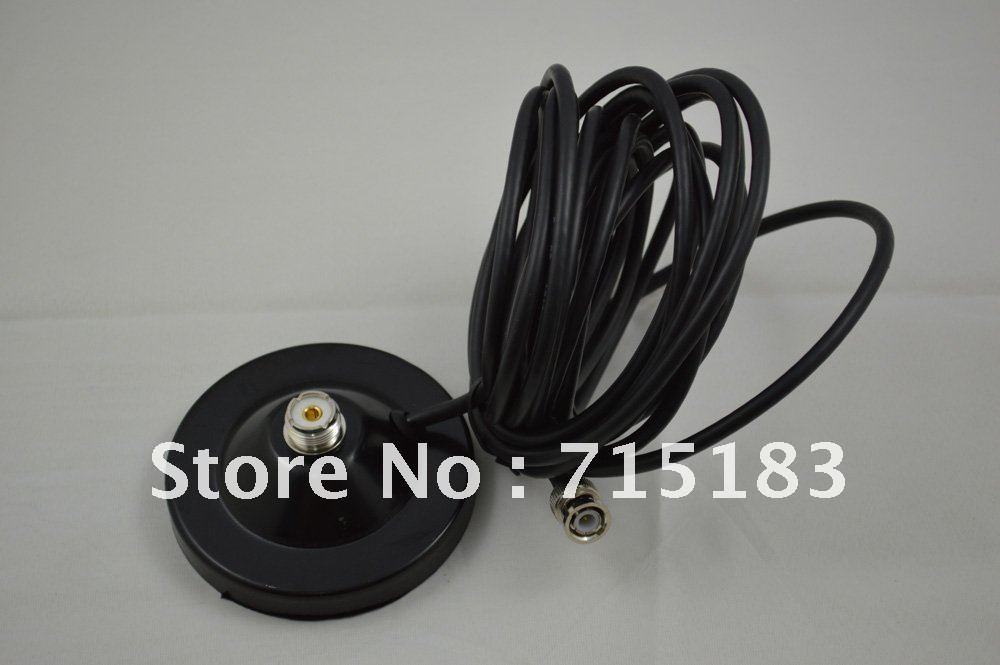 Magnetic Mount/Base Strong Magnet with 5 Meter Coaxial Cable+BNC Male connector for Mobile Radio Car Radio