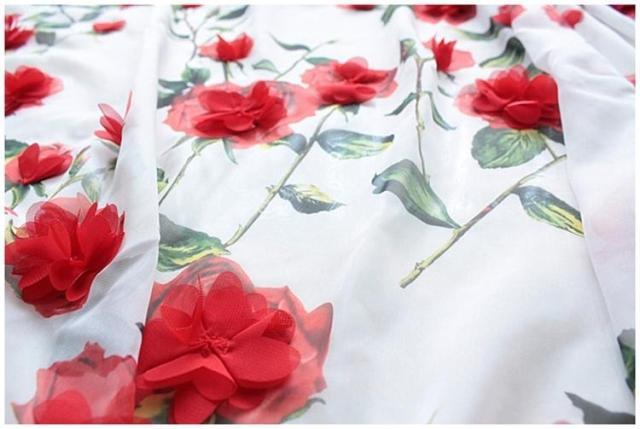 Nero bianco floreale chiffon applique abbigliamento materiale d