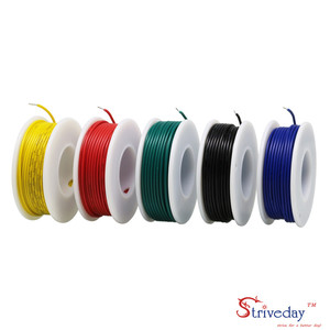 Image 3 - UL 1007 26AWG 50 m Kabel lijn Vertind koper PCB Draad 5 kleur Mix Solid Draden Kit Elektrische Draad DIY
