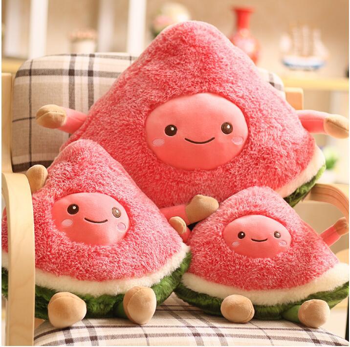 1 Pc 30 Cm 35 Cm 45 Cm Cartoon Leuke Vruchten Watermeloen Pluche Kussen Hold Kussen Baby Kids Gift Gevulde Speelgoed Woondecoratie