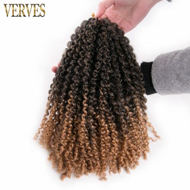 Brown Crochet Braids Hair 8 Pack 12 Synthetic Kinky Twist Verves