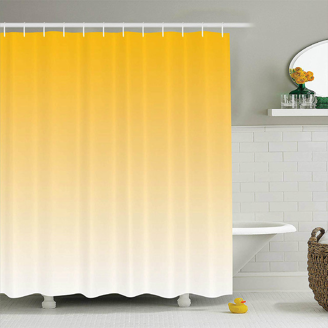 US $12.8 44% OFF|Shower Curtain Summer Love On The Beach Theme Inspired For  Yellow Modern Design Fabric Bathroom Decor In Shower Curtains From Home U0026  ...