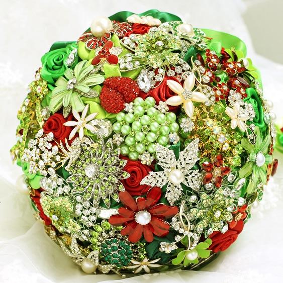 Christmas Wedding Bouquets And Flowers: Christmas Theme Brooch Bouquet Advanced Custom Wedding