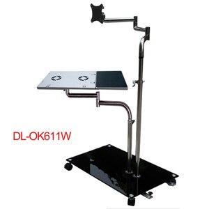Подставка для ноутбука DL OK611, регулируемая прикроватная подставка для монитора компьютера + держатель для клавиатуры, вращающаяся подставк...