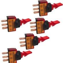 Soporte para EE. UU. 5 uds. Interruptor basculante 12V 20A 3P colores de mango corto interruptor basculante apagado/encendido XY01