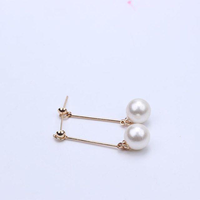 Pearl Long Drop Dangle Earrings 3