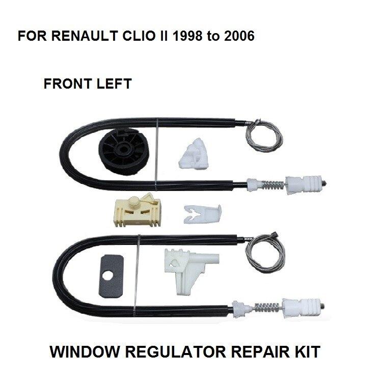 1998-2016 WINDOW REGULATOR COMPLETE CLIP SET RENAULT CLIO II WINDOW REGULATOR REPAIR KIT FRONT-LEFT 2/3 DOOR car front left side complete auto electric window regulator 3b1837461 3b4837751eg for vw passat 1996 2005