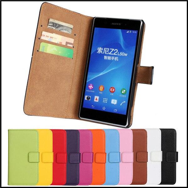 Funda protectora para sony xperia z2 teléfono móvil accesorios bolsas cartera de