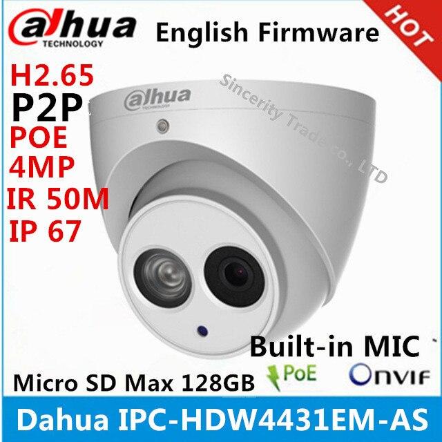 bilder für Dahua ipc-hdw4431em-as metall shell h2.65 eingebautem mikrofon wdr ir 50 mt 4mp ip-kamera mit poe ersetzen dh-ipc-hdw4421em-as cctv-kamera