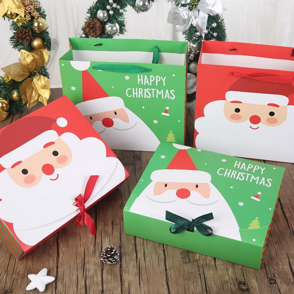 ᑐ2pcs Christmas Paper Gift Bags Korean Gifts Bag Christmas Kids ...