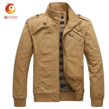Spring Army Jacket Men's Casual Jackets Cotton Washed Coats Military Stand Collar Outerwear Jaqueta Masculina Parka Veste Homme
