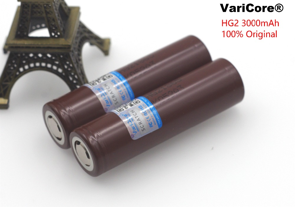 100% New Original HG2 18650 3000mAh battery 18650HG2 3.6V discharge 20A dedicated For LG Electronic cigarette Power battery 3pcs 100% original varicore 18650 2500mah li ion rechargeable battery 3 7v power electronic cigarette batteries 20a discharge