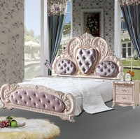 high quality bed Fashion European French Carved bedside 1.8 m bed 43