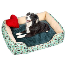 Теплая Вельветовая мягкая кровать для собак, Водонепроницаемый моющийся домашний коврик для домашних животных, мягкий диван-будка для собак, кошек, домик для больших собак noel