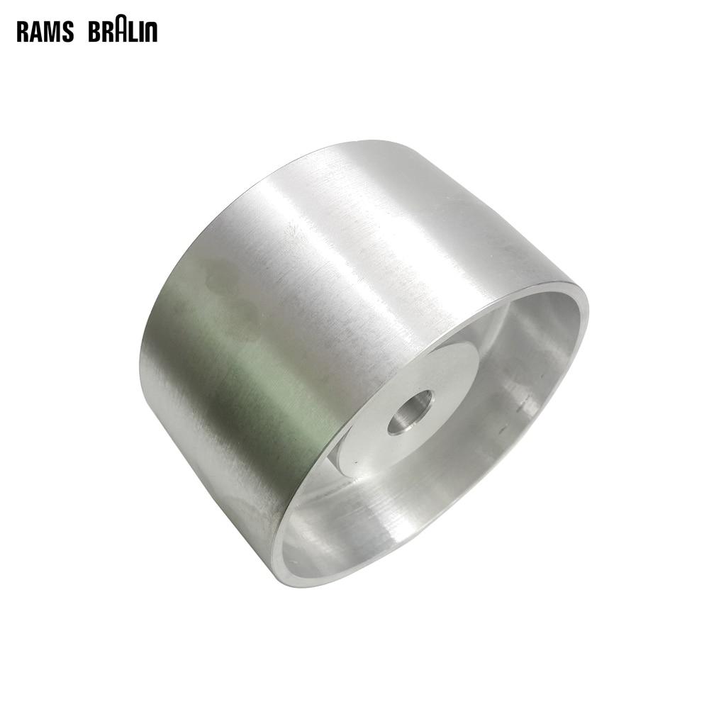 180*100*25mm Fully Aluminum Contact Wheel Belt Grinder Driving Wheel