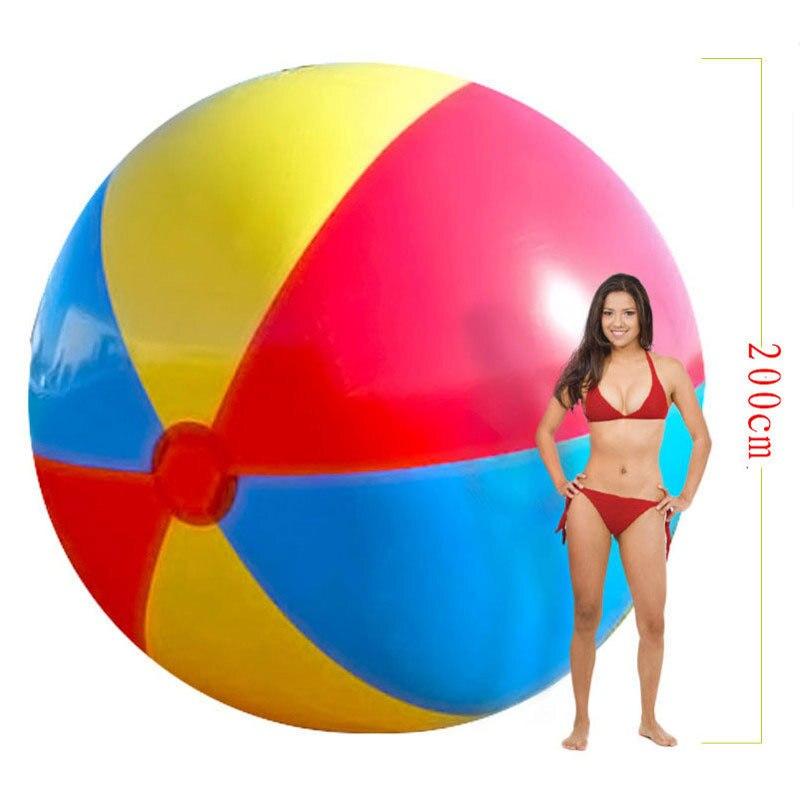 200 см очень большой гигант надувной пляжный мяч пляжный играть летний спортивный игрушка детская игра вечерние мяч открытый весело шар B38001