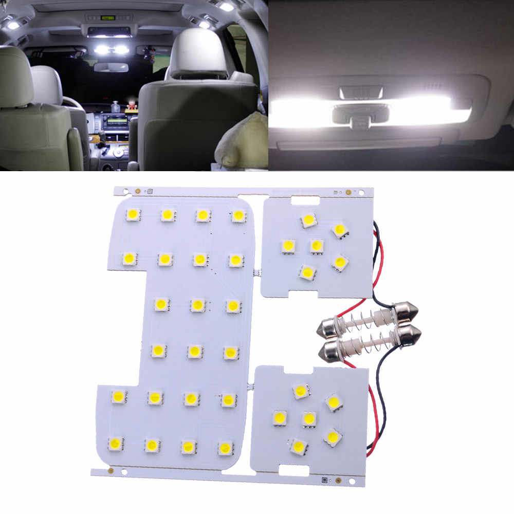 Dropshipping 3 Pcs For Kia Rio K2 2006-2012 For Hyundai Solaris Verna Reading Lights Dome Lamps Interior LED White Color Suitabl