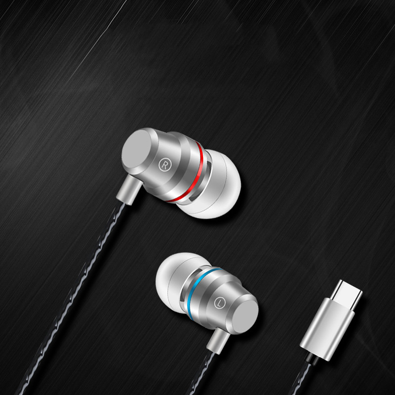 Fashion TYPE-C Earphone Cut off the noise enjoy the pure music in-ear earbud 3.5MM line friends High end zinc alloy HiFi heavy