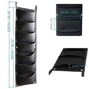 Image 2 - 4と7 ポケット垂直園芸フラワーポットプランター吊り鉢プランター壁ガーデングリーンフィールド装飾