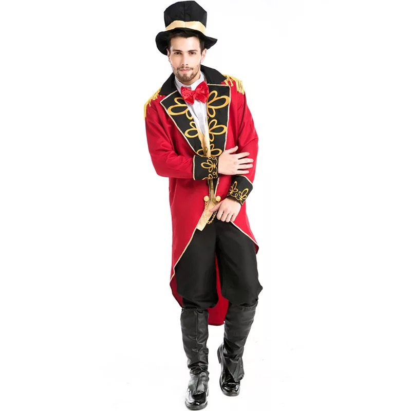Image 5 - Halloween Vampire Magician Ringmaster Costume Male Circus Leader Tuxedo Jacket Vintage Tailcoat Fancy Dress Outfit For Men Hat-in Game Costumes from Novelty & Special Use