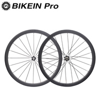 BIKEIN Ultralight 3k Carbon 700C Road Bike Wheels 38mm Depth 23mm Width Rim Clincher Tubular Cycling