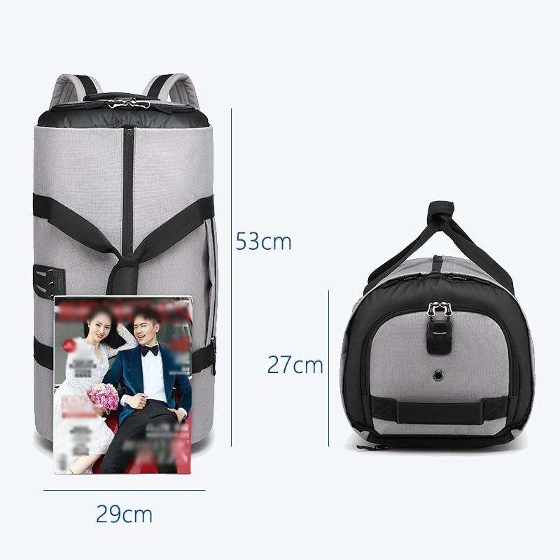 OZUKO многофункциональная Большая вместительная мужская дорожная сумка, водонепроницаемая сумка для путешествий, сумка для хранения, ручная сумка для багажа с мешочком для обуви