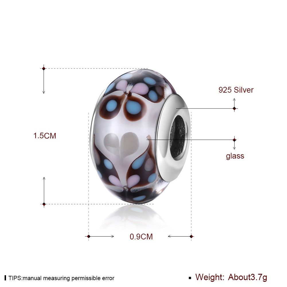 GOMAYA S925 Sterling Silver Fashion Glass Beads Series For Women Ladies Female Charming Fine Jewelry in Beads from Jewelry Accessories