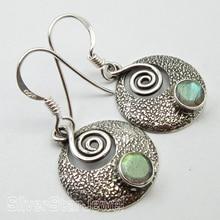 Chanti международных богемный стиль старинные ювелирные изделия 3.2 см, чистого серебра синий огонь, лабрадорит подарок