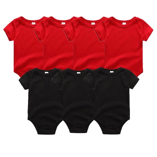 6b8842a9ac925 Uniesx Newborn Baby Rompers Clothing 7Pcs/Lot Infant Jumpsuits 100%Cotton  Children Roupa De Bebe Girls&Boys Baby Clothes
