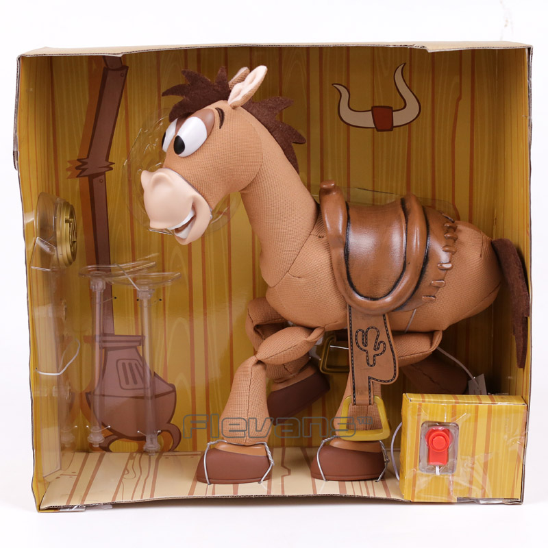 Cartoon Movie Woodys Horse Bullseye with Music and Sound Effect PVC Action Figure Collectible Model Toy 35cm