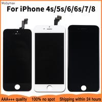 Promoção da fábrica lcd substituição para iphone 5S 6 aaaa + + + qualidade display lcd tela de toque para iphone 6s 7 4S 8 100% teste trabalho|LCDs de celular| |  -