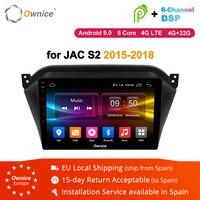 Ownice K1 K2 K3 Octa core Android 9,0 автомобильный DVD плеер gps для JAC S2 аудио Авто Радио Стерео gps навигатор bluetooth wifi 4 аппарат не привязан к оператору сотовой