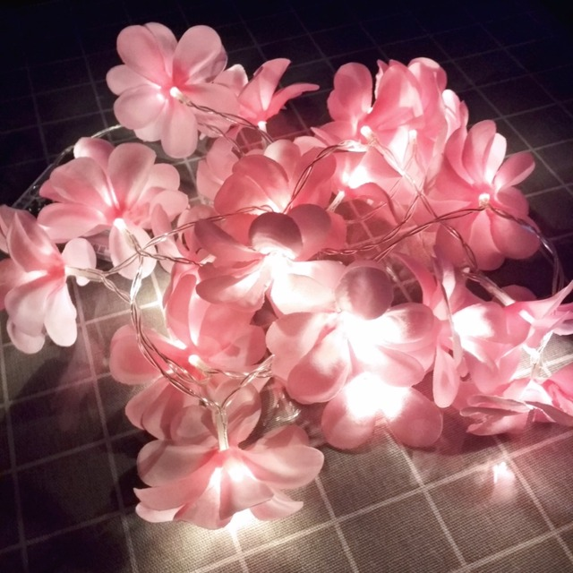 Charming Flowers Shaped Battery Operated Wedding LED String Light