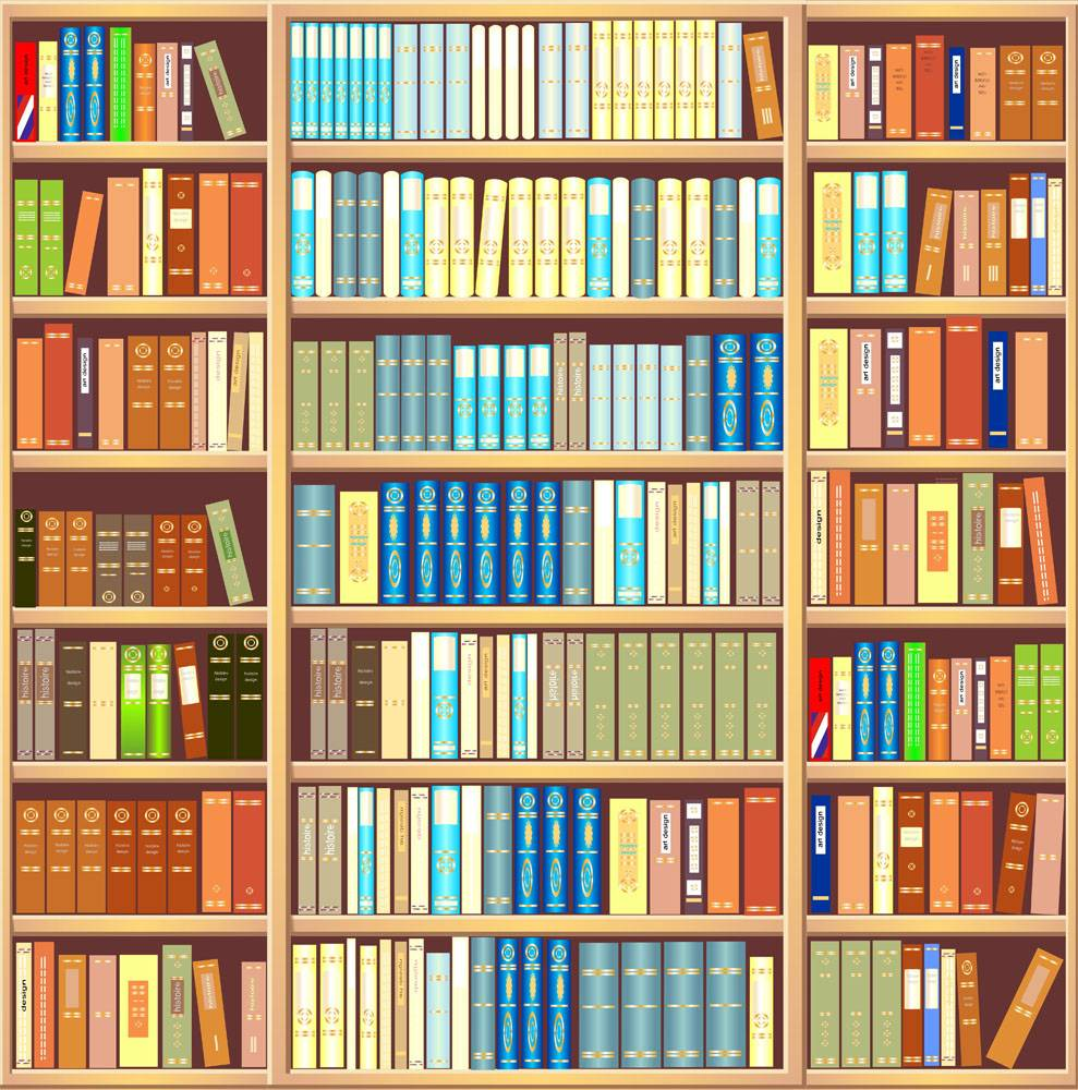 books library bookcase wall bookshelf background mural illustration backdrop shelf pixers illustrations study vector different depositphotos murals clipart colorful literature