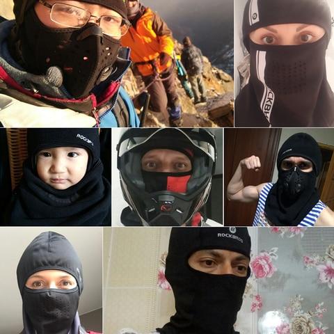 ROCKBROS Ski Mask Winter Thermal Fleece Full Face Cover Scarves Outdoor Balaclava Windproof Cycling Headgear Sport Equipment Islamabad