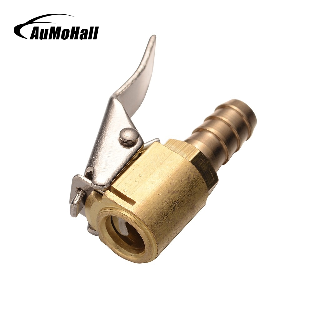 Clip On 1//4/'/' Auto Car Tire Inflator Valve Connector Air Chuck Brass