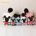 A família roupas combinando 2016 verão curto t camisa dos desenhos animados mickey para mãe e filha família filho pai olhar outfits clothing
