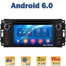 Quad Core 2GB RAM 4G LTE SIM WIFI Android 6.0 Car DVD Player Radio For Jeep Cherokee Compass Wrangler Chrysler 300C Dodge RAM