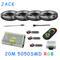 20m smd 5050 rgb led Flexible strip light 60leds/m+DC 12V 18A Wireless Remote Controller+12A Amplifier*3+20A Power free shipping
