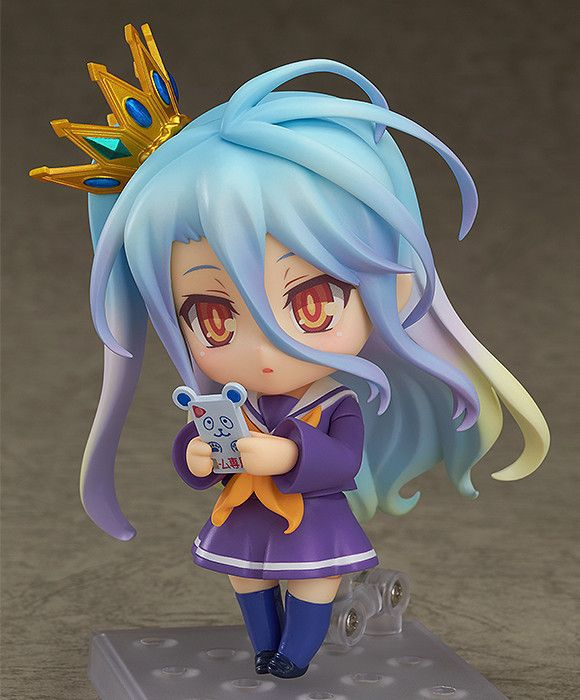 NO GAME NO LIFE Shiro Q version Anime Action Figure