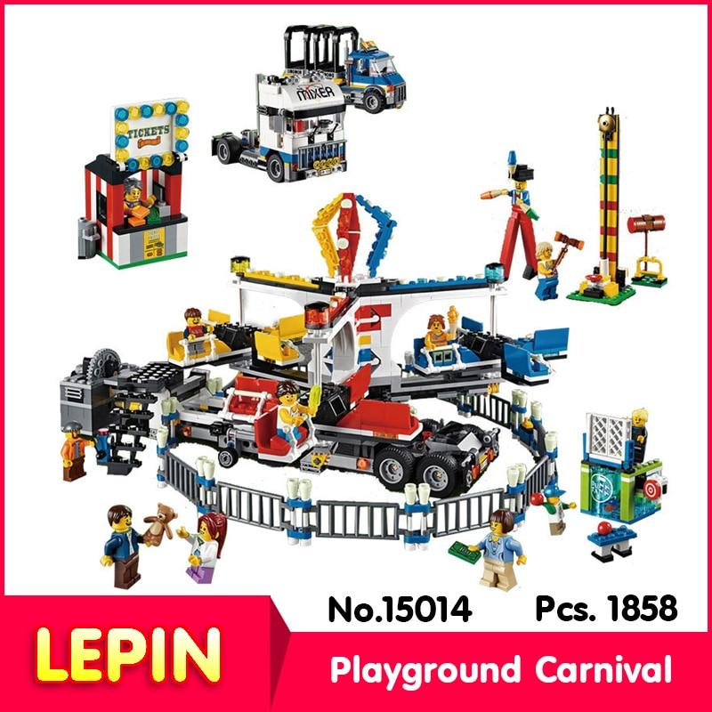 ФОТО LEPIN 15014 1858Pcs Street View Series Amusement Park The Carnival Model Building Blocks Bricks Toy    10244