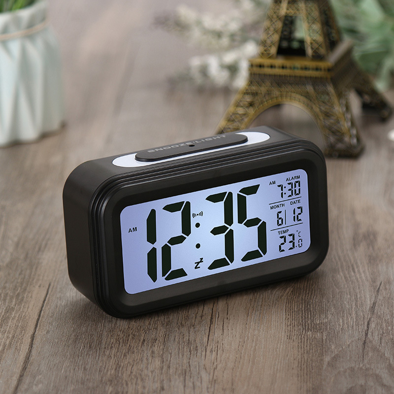 5 Colours Electronic Gadgets Battery Operated Alarm Clock Electronic Large Lcd Display Digital Alarm Clocks with Snooze Backligh