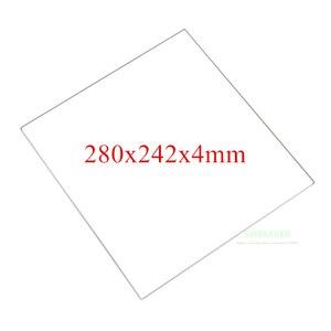 SWMAKER 100% placa de vidrio de borosilicato 280x242x4mm de espesor 4mm para DIY Flyingbear P905X placa de construcción de impresora 3D