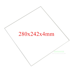SWMAKER 100% Borosilicate Glass plate 280x242x4mm thickness 4mm for DIY Flyingbear P905X 3D printer Build Plate(China)