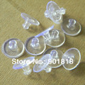 100 unids/lote Pendientes Joyería Accesorios de Caucho de Silicona Ronda Oído Enchufar Bloqueado Pendiente Volver Tapones De Plástico para DIY