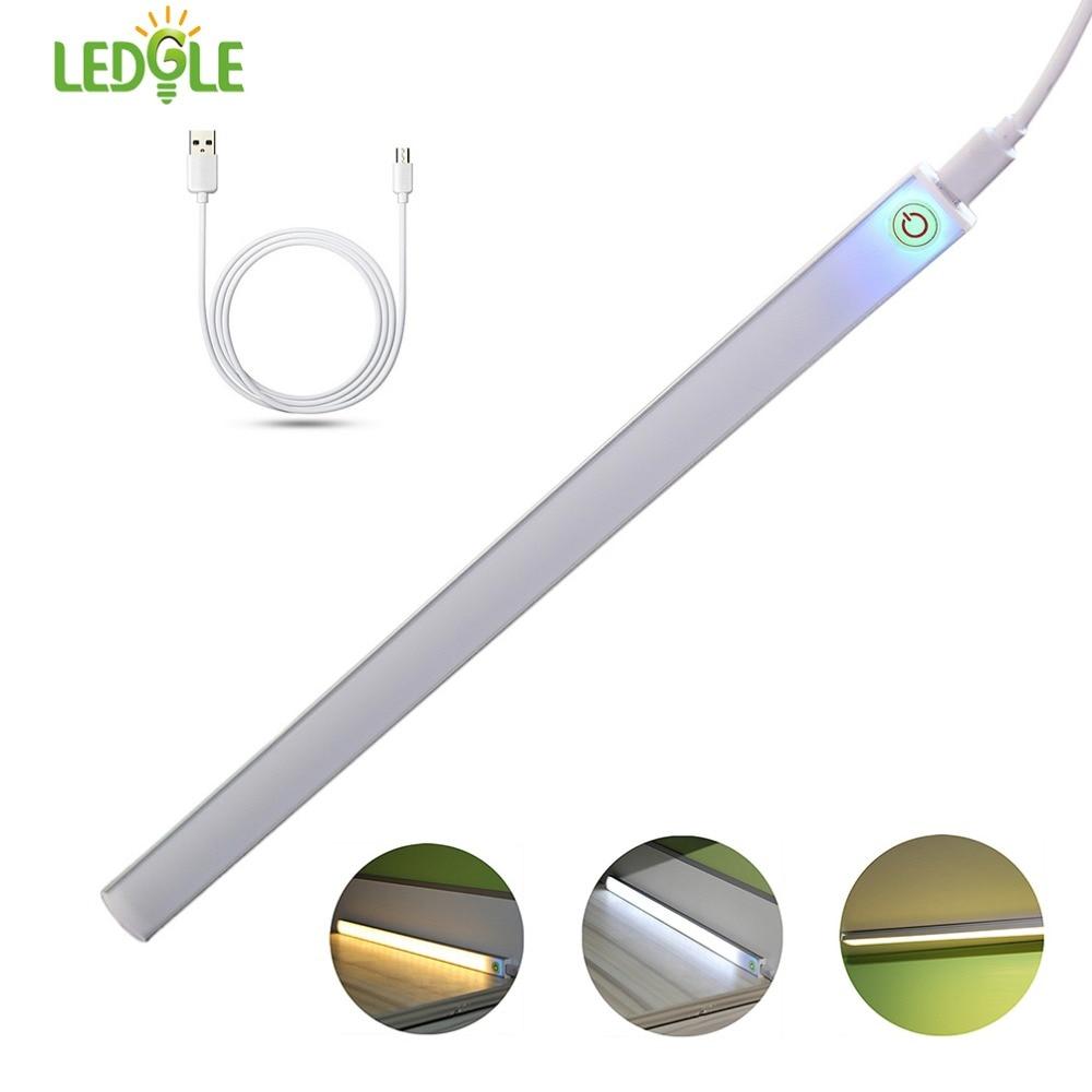 LEDGLE 6W Ultra-thin LED Light Bar Closet Light Bright Under Cabinet Lamp 21 Led Beads Ideal For Closet Bedroom Hallway USB DC5V