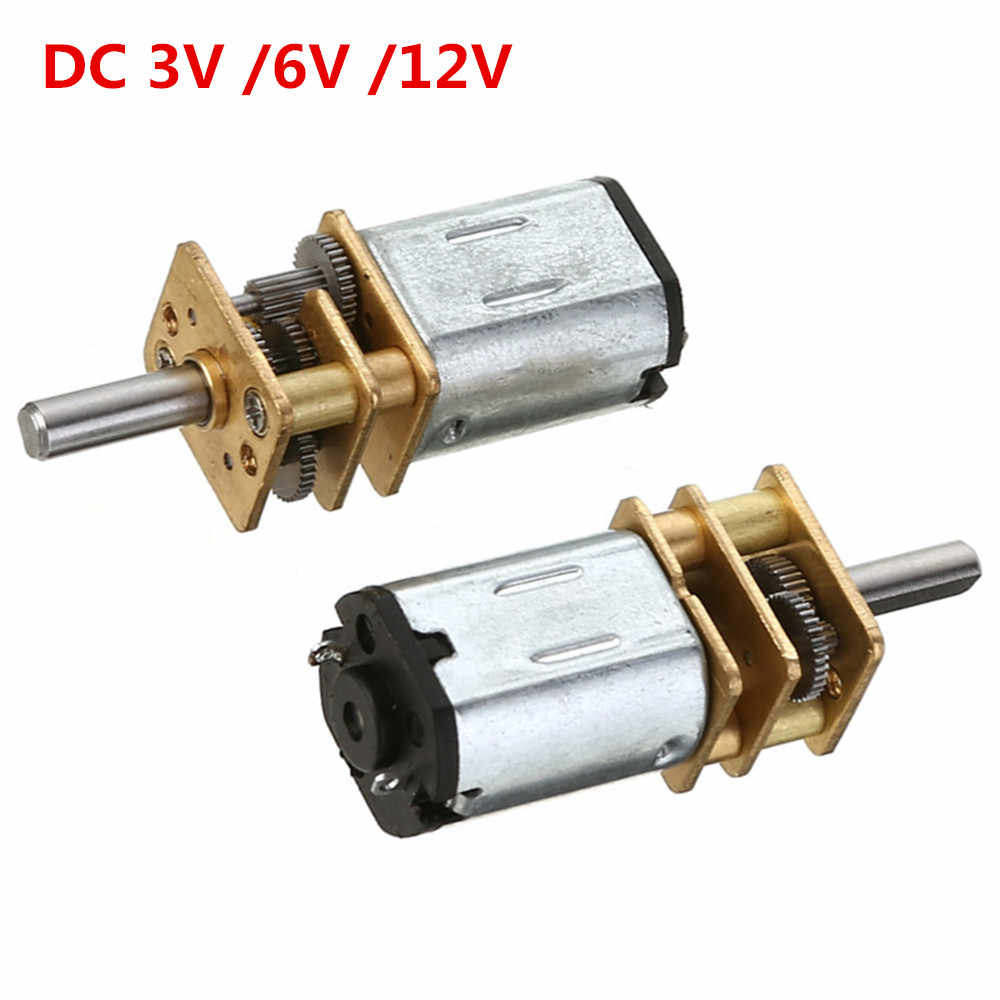 15/30/50/60/100/200/300/500RPM N20 Micro Speed Gear Motor DC 3V 6V 12V Reduction Motor Gear Reducer Motor for Car Robot Model